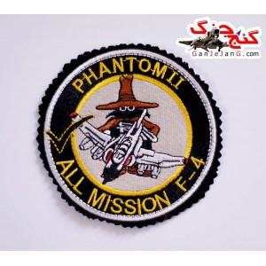 آرم سینه تمام دوخت استاد خلبان لیدر یک اف-4 فانتوم